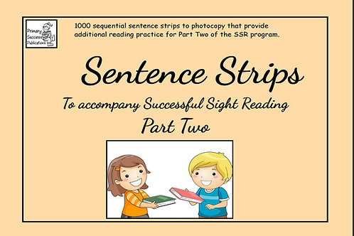 Sentence Strips - to accompany SSR - Part Two