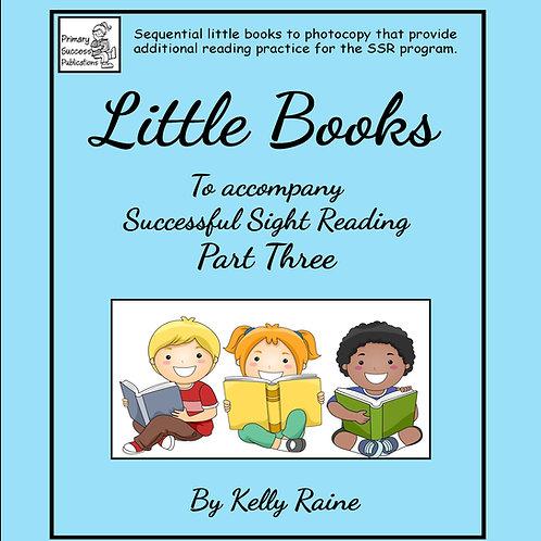 Little Books - to accompany SSR - Part Three