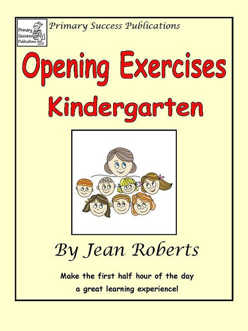 Opening Exercises - Kindergarten
