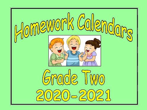 Homework Calendars Grade Two - 2020-2021