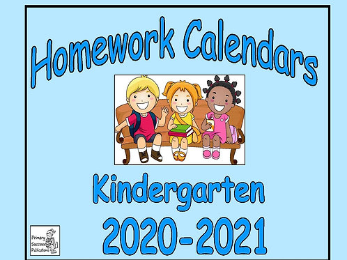 Kindergarten Homework Calendars 2020-2021