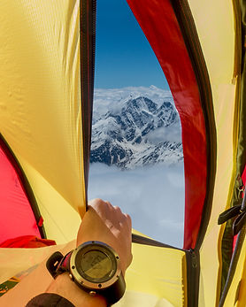 Utsikt telt Elbrus
