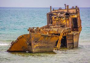 bateau abandonné - Sao-Tome