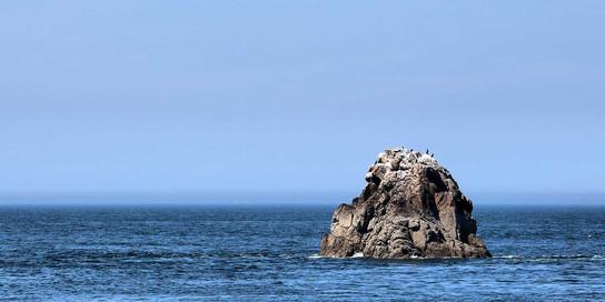 Rocher dans la mer