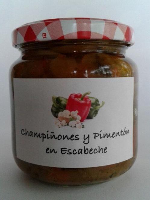 Champiñones y Pimentón en Escabeche