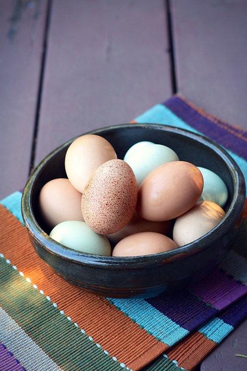 Huevos de Gallina Feliz (Cubeta)