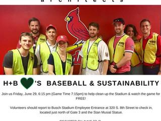 H+B loves Baseball & Sustainability