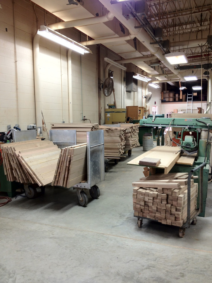Deep Green furniture panels and parts in process.jpg