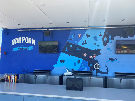 Mural for Harpoon Brewery at Polar Park, Worcester, MA