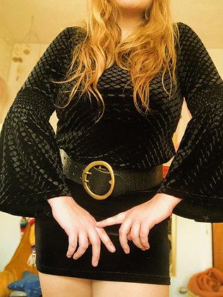 Velvet Bell Sleeve Top (L/XL)