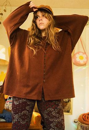 Cozy Oversized Button-Up Sweater (XXL)