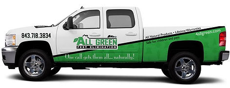 Our pest control truck in Charleston providing pest control, natural exterminator services.