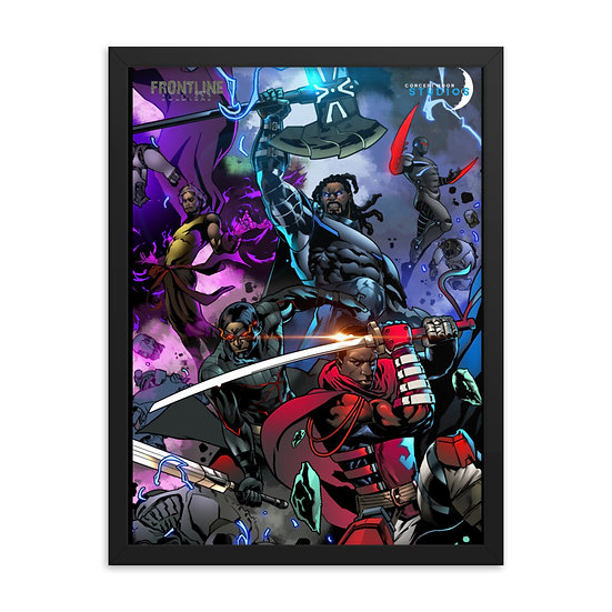 Frontline Soldiers & Blue Blazer Framed Pin-Up