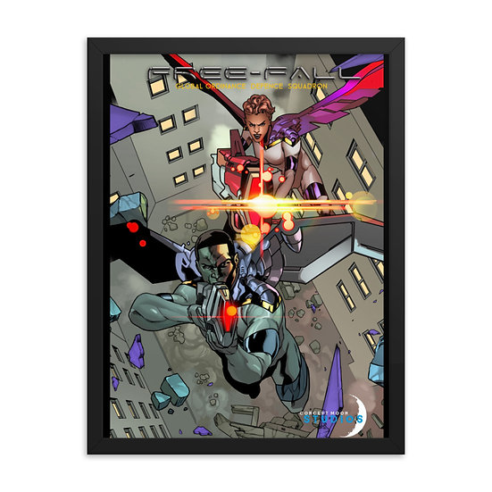 Free-Fall: G.OD.S. Malcolm & Monroe Framed Pin-Up