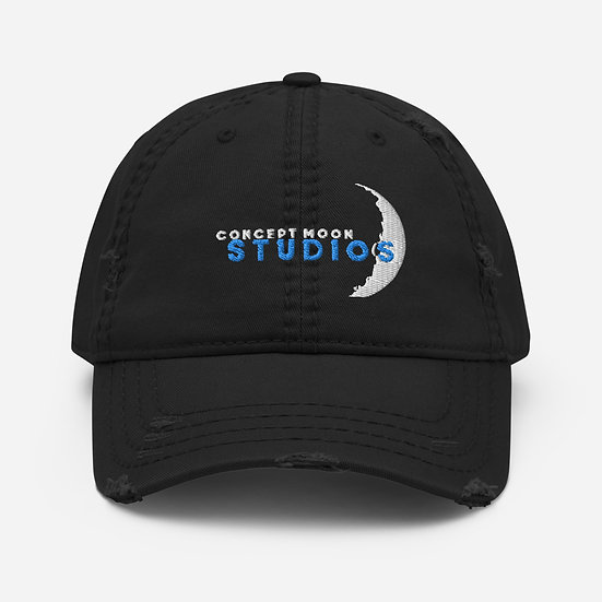 Concept Moon Distressed Dad Hat
