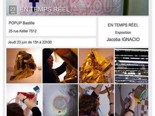 "Exposition Jacoba Ignacio ""En temps reél""@popubastille"