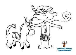 burro, burrito, indio, indiecito, para colorear, dibujo, colombian folk