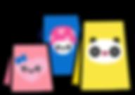 Kuu Kuu Harajuku Kawaii Shopping Bags Emoji