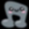 Kuu Kuu Harajuku Kawaii Grey Music Note Emoji