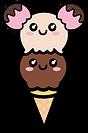 Kuu Kuu Harajuku Kawaii Ice Cream Cone Emoji