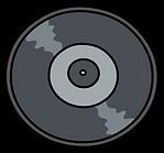 Kuu Kuu Harajuku Kawaii Vinyl Disc Emoji