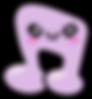 Kuu Kuu Harajuku Kawaii Purple Music Note Emoji