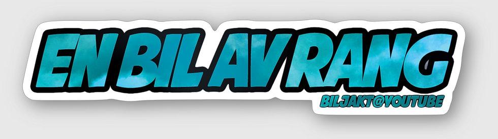 "Sticker - ""EN BIL AV RANG"" (BLÅ)"