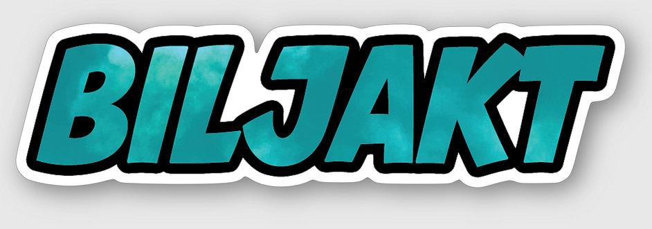 """Sticker - """"BILJAKT"""" (BLÅ)"""