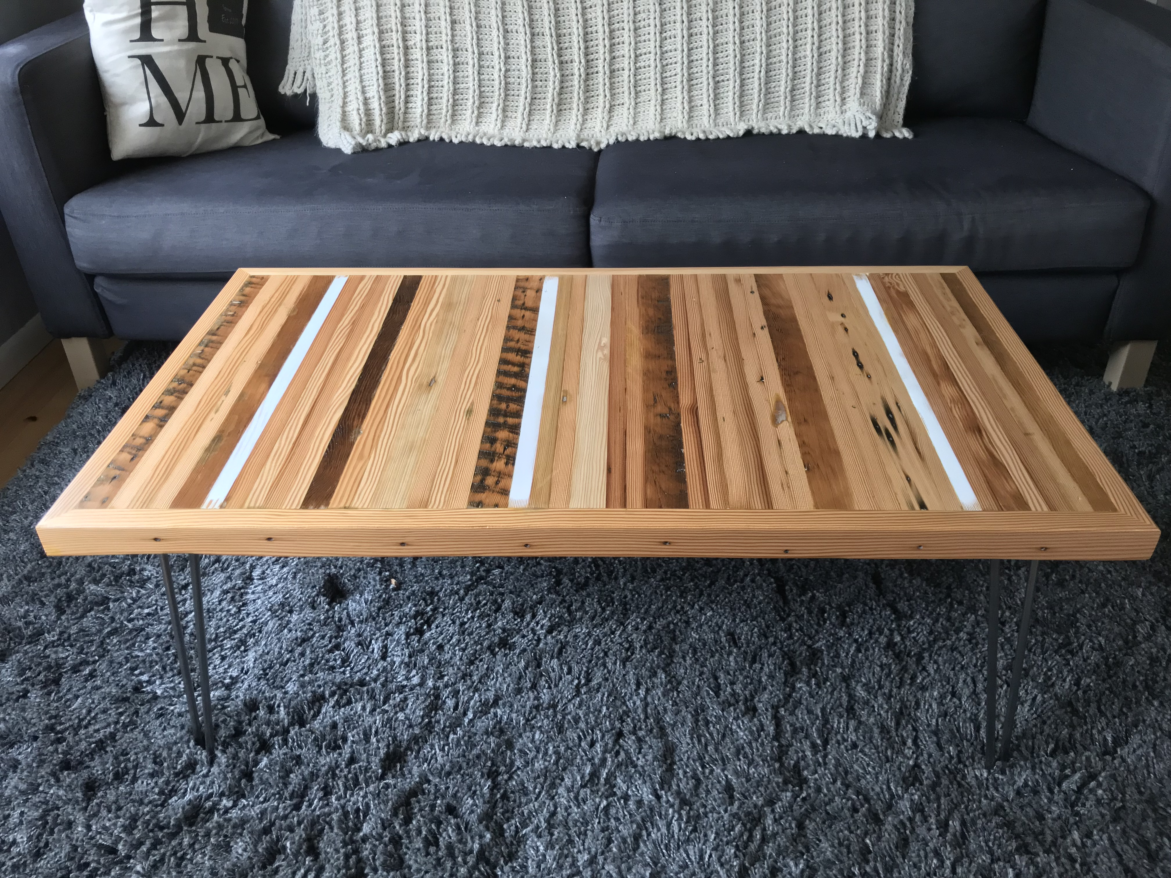 Reclaimed Slatted Coffee Table