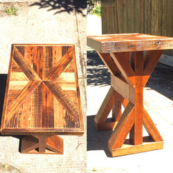 """X"" Trestle End Table"