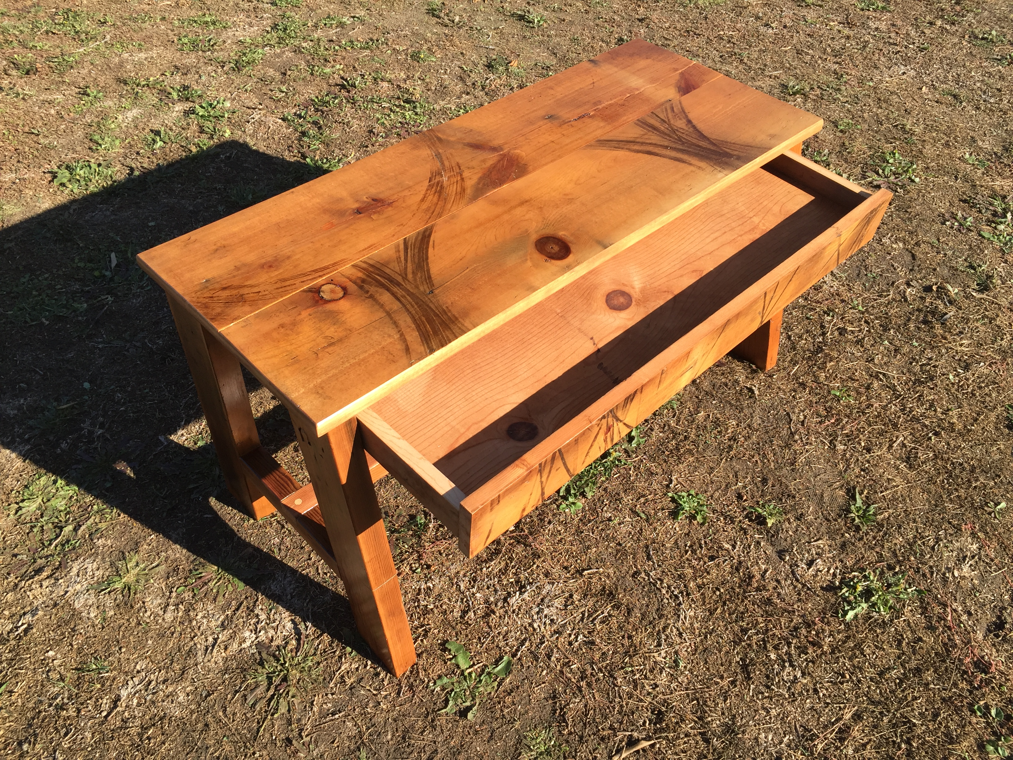 Fir Pull-out Bench