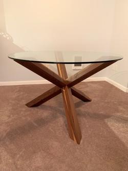 Tri-pod Dining Table-Walnut