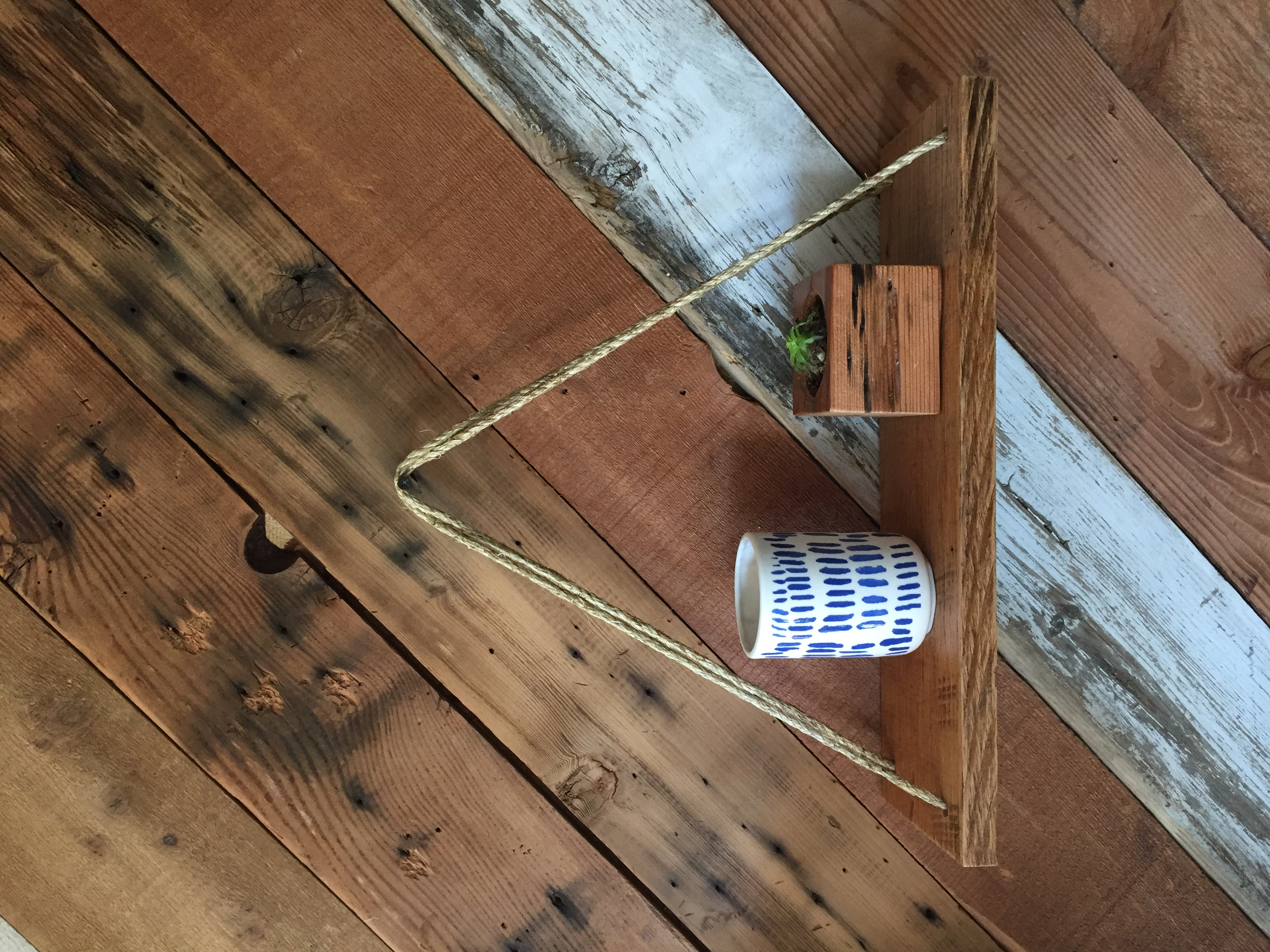 Reclaimed Oak Swing Shelf