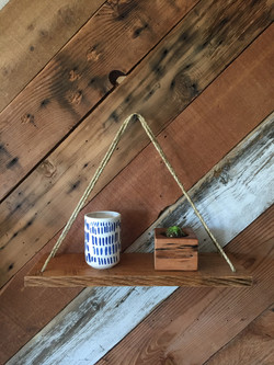 Reclaimed Oak Swing Shelf