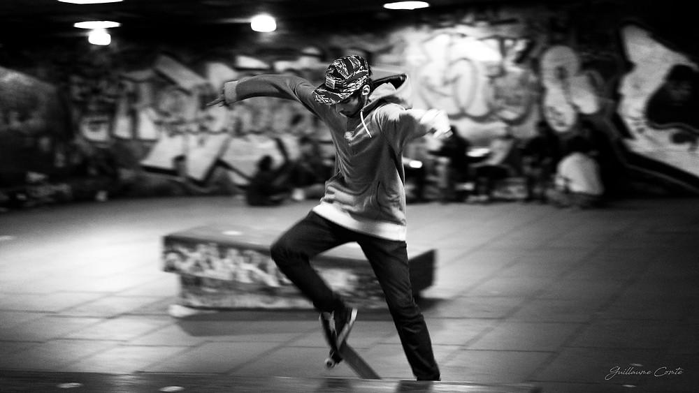 Guillaume Comte Photographe Limoges Limousin London Streetart panning skater