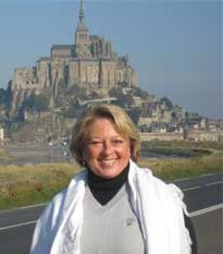 In front of Mont Saint-Michel