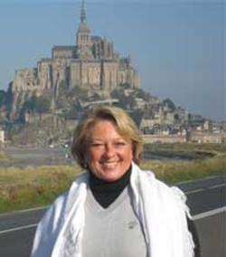 In front of Mont Saint-Michel