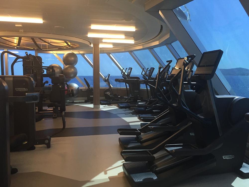 The fitness center on Regent Explorer Cruise