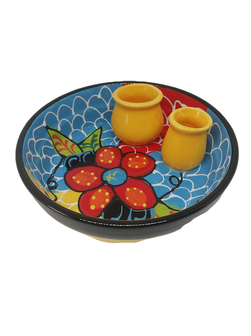 Oliventeller, Tapassteller Vorspeisenteller spanische Keramik