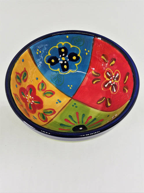 Salatbowl  Suppenschüssel 14x7 cm   Handbemalt