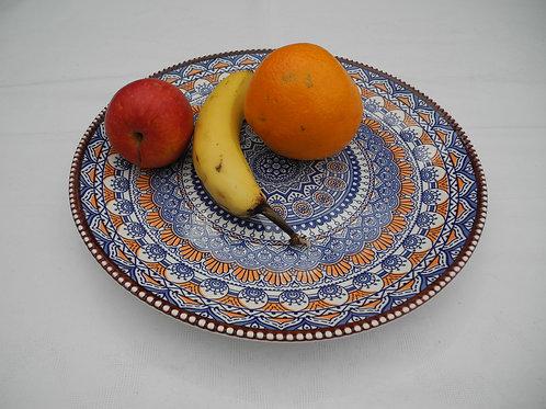 Pizzateller, Servierplatte 30 cm Vorspeisenplatte  Obstteller