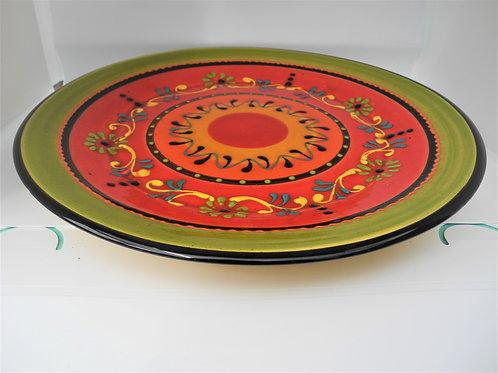 Servierplatte 30 cm in der Farbe orange