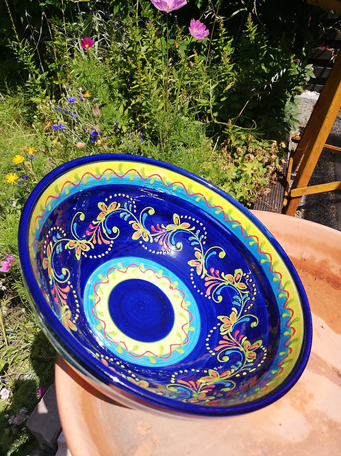 Salatschüssel 25 cm  Hand bemalt aus Spanien