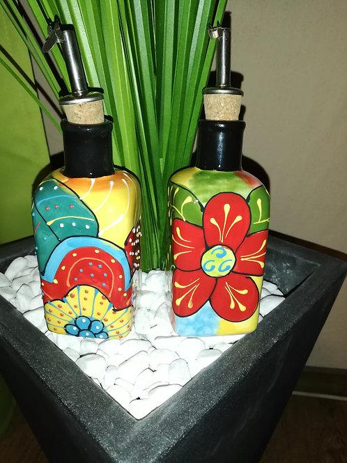 Öl,- Essigkännchen Set mit 2 Stck