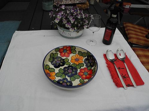 Salatschüssel 30 cm bunt Vorspeisenteller