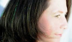 fairy hair sparkles tinsel green