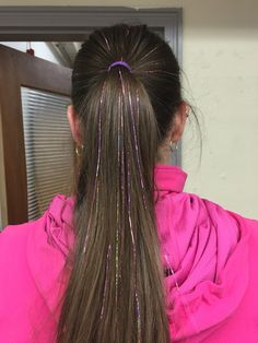 fairy hair sparkles tinsel purple