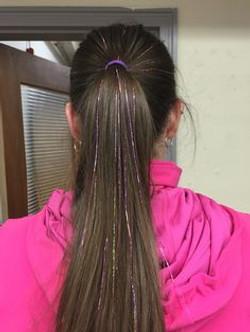 fairy hair sparkles tinsel purple