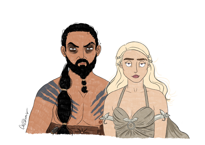 khalessi and Khal Drogo