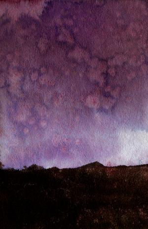 nightsky watercolour
